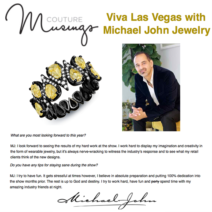 "Talking Vegas with Couture! Read more on Michael's ""work hard, play hard"" mentality on Couture Musings! May 2014"
