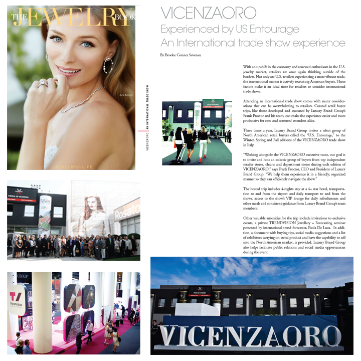 VICENZAORO is an international trade show experience! Read more on the infamous trade show that takes place in Italy in the latest issue of The Jewelry Book! May 2014