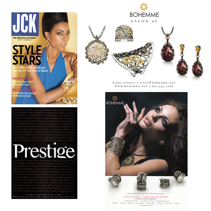 Las Vegas Jewelry Market Week is around the corner! Bohemme Jewelry will be at Prestige Promenade from May 30-June 2! For more information, pick up the May 2014 issue of JCK Magazine!