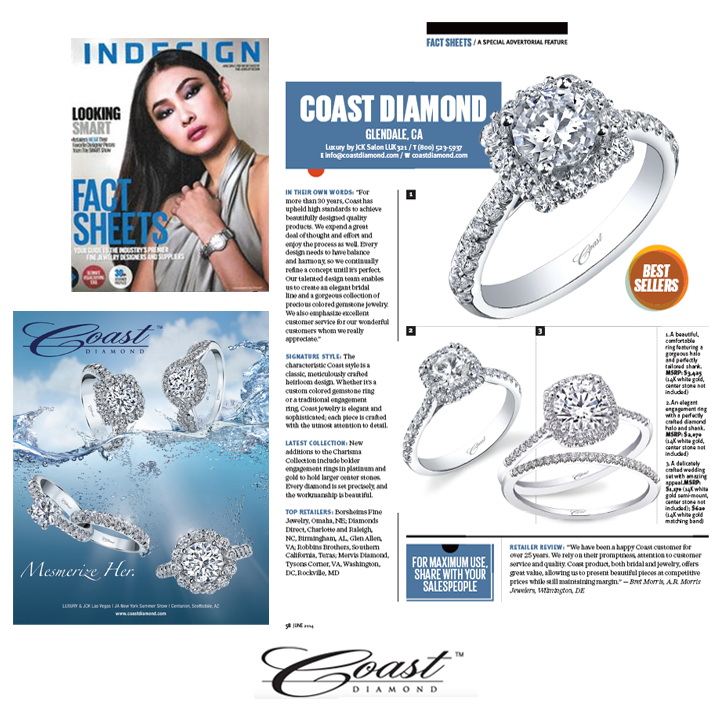 Check out Coast Diamond's two-page spread in the June 2014 issue of INDESIGN Magazine!