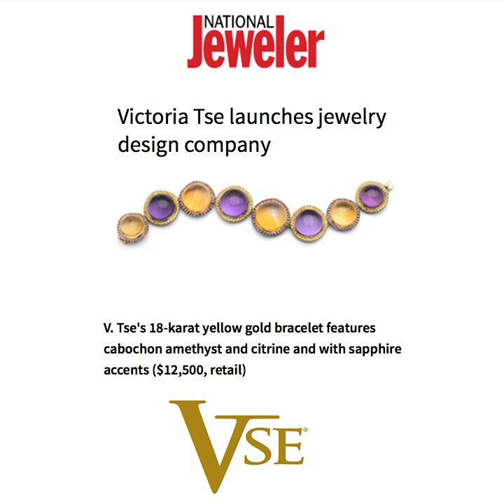 It's official! Christian Tse's co-founder is debuting new line, V. Tse, this week at JCK Las Vegas! Thanks National Jeweler for featuring! May 2014