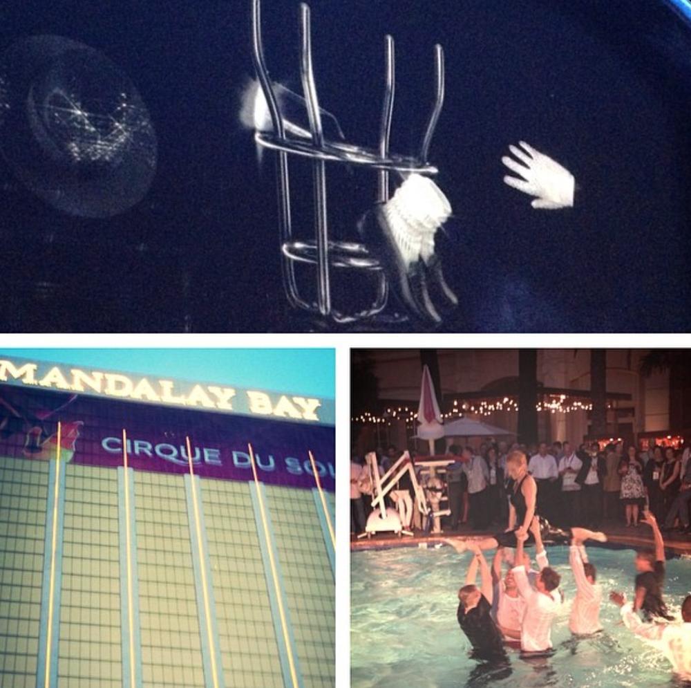 JCK Las Vegas hosts Michael Jackson Cirque Du Soleil flash mob dinner and show.