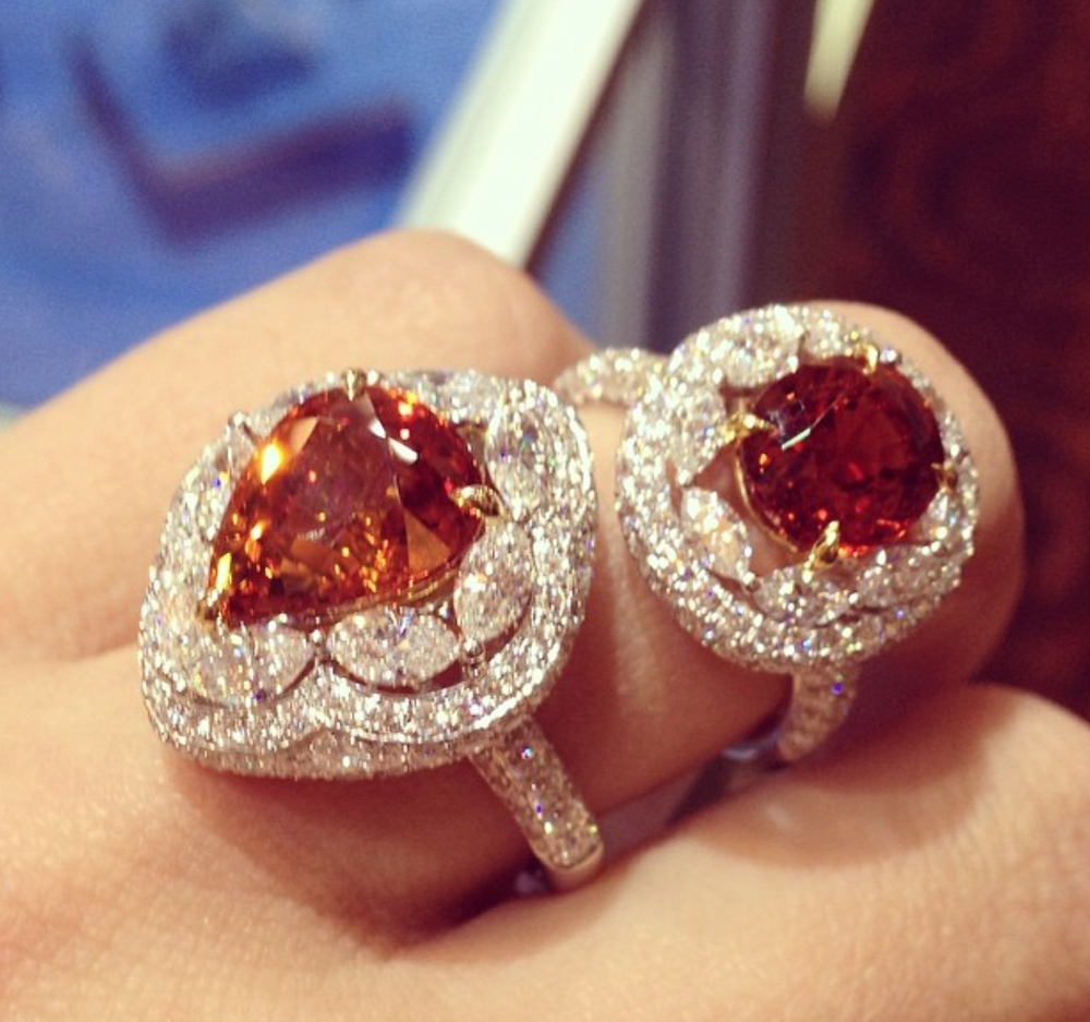 A gorgeous new Sapphire, Orange and Diamond ring by Supreme Jewelry that debuted at JCK LUXURY.