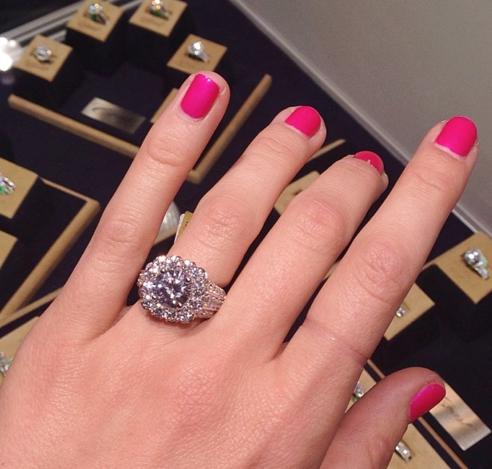 This amazing Coast Diamond 3CT center stone ring stole the attention during JCK Las Vegas.