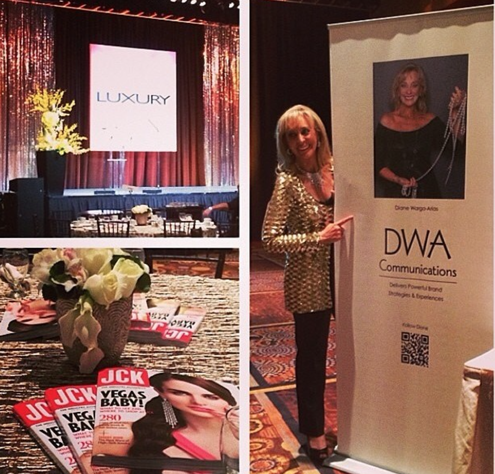 Jewelry activist, Diane Warga-Arias of DWA Communications rocked Supreme Jewelry during her breakfast keynote presentation.