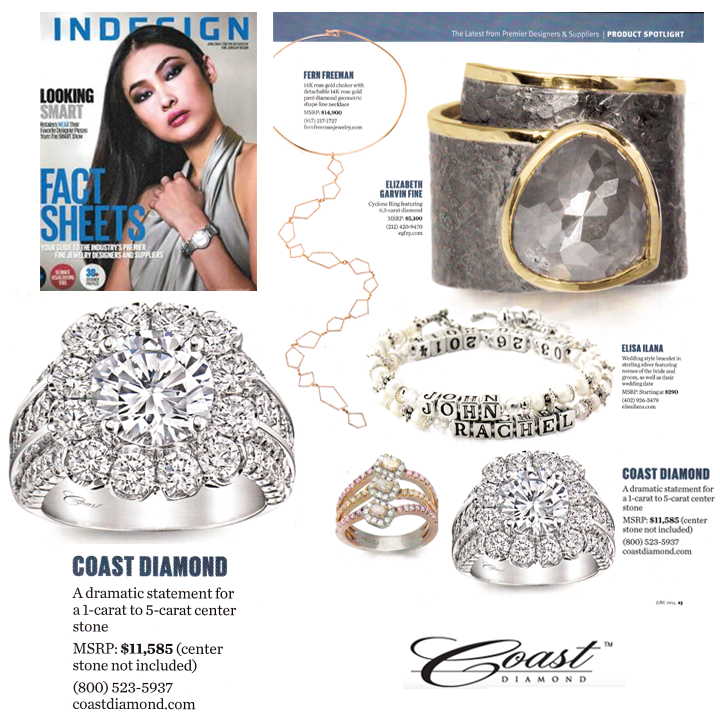 "Coast Diamond was also featured in INDESIGN's ""Product Spotlight"" section in the June issue!"