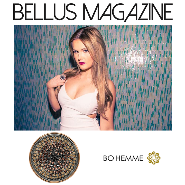 Recording artist, Ashlee Keating, looks fierce in Bohemme Jewelry's 18K Gold ring from the Form Collection in a recent interview for Bellus Magazine!
