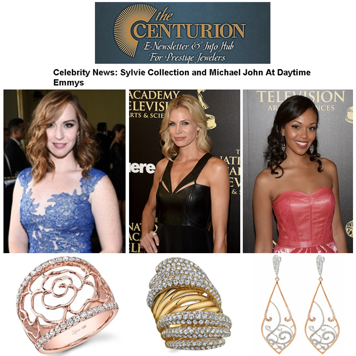 "Who was your best dressed on the Daytime Emmy's red carpet? We had a few of favorites! ""Young and the Restless"" star, Camryn Grimes, and actress, model and TV personality, Brooke Burns, stunned in Sylvie Collection jewels. Another star of the ""Young and the Restless"", Mishael Morgan, looked pretty in pink in Michael John Jewelry's drop earrings. Thanks Centurion for featuring in this week's newsletter!"