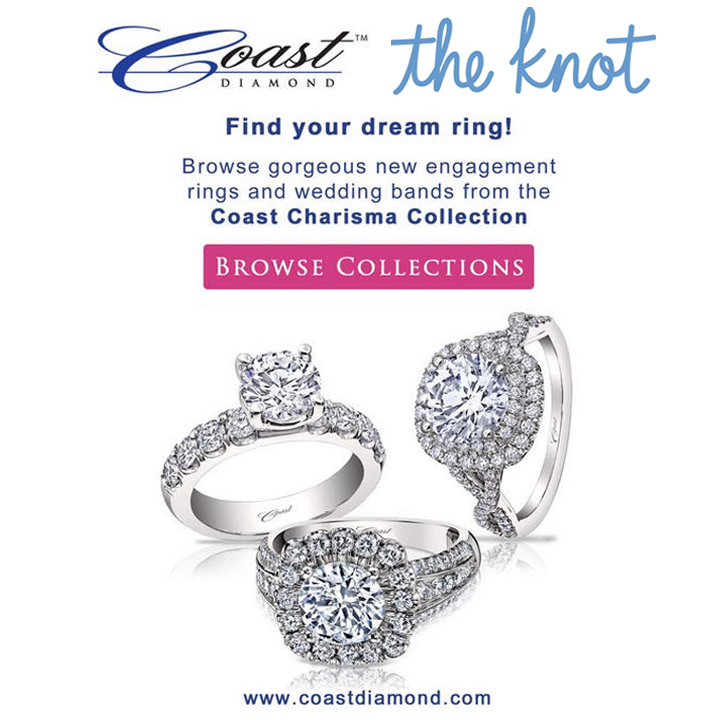 Have you found your dream engagement ring?! Check out Coast Diamond's new rings from the Charisma Collection here, and find your dream ring!