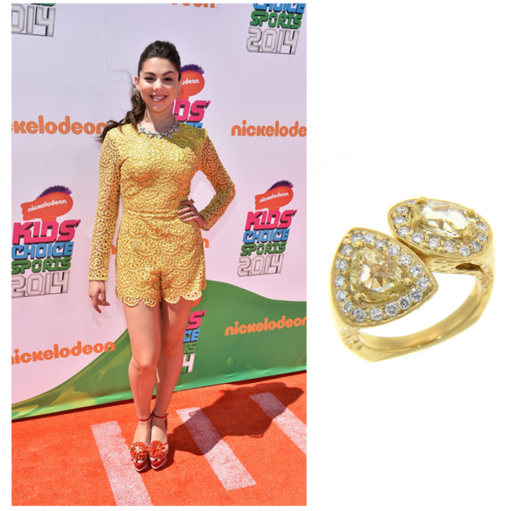 Actress, Kira Kosarin, looked radiant at the Nickelodeon Kid's Choice Sports Awards wearing Michael John Jewelry and Zultanite Gems!