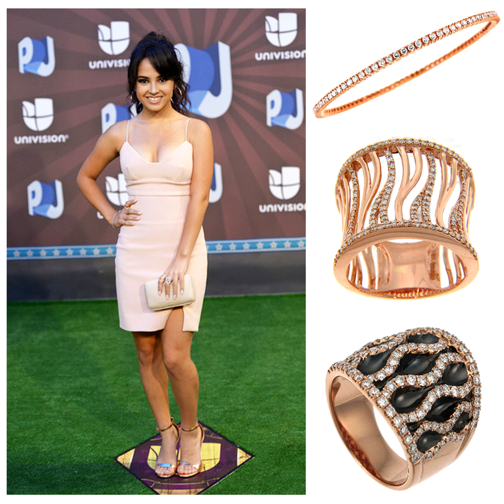 Pop singer and Covergirl spokesperson, Becky G., took the spotlight at Premios Juventud wearing Michael John Jewelry and Supreme Jewelry!