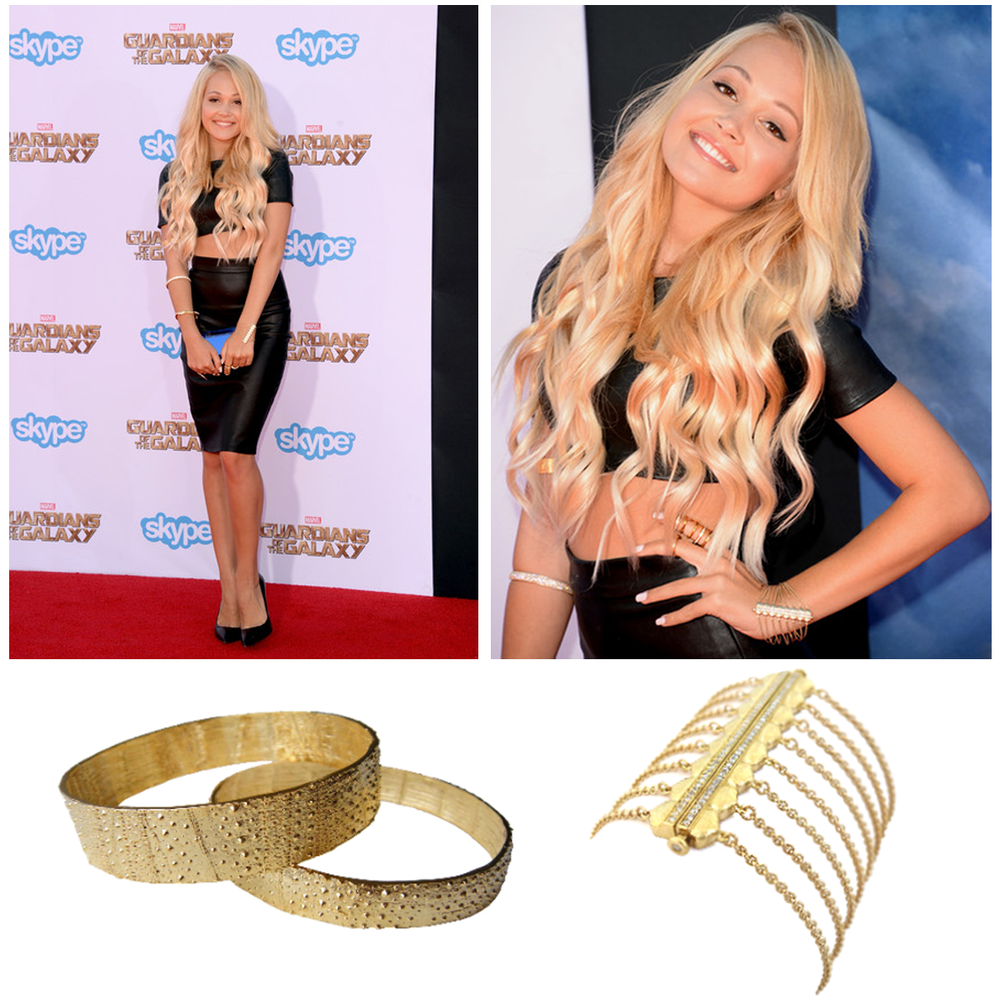 "Disney starlet, Kelli Berglund, rocked Tiffany Chou and Daniel Gibbings jewels at the red carpet premiere of ""Guardians of the Galaxy""!"