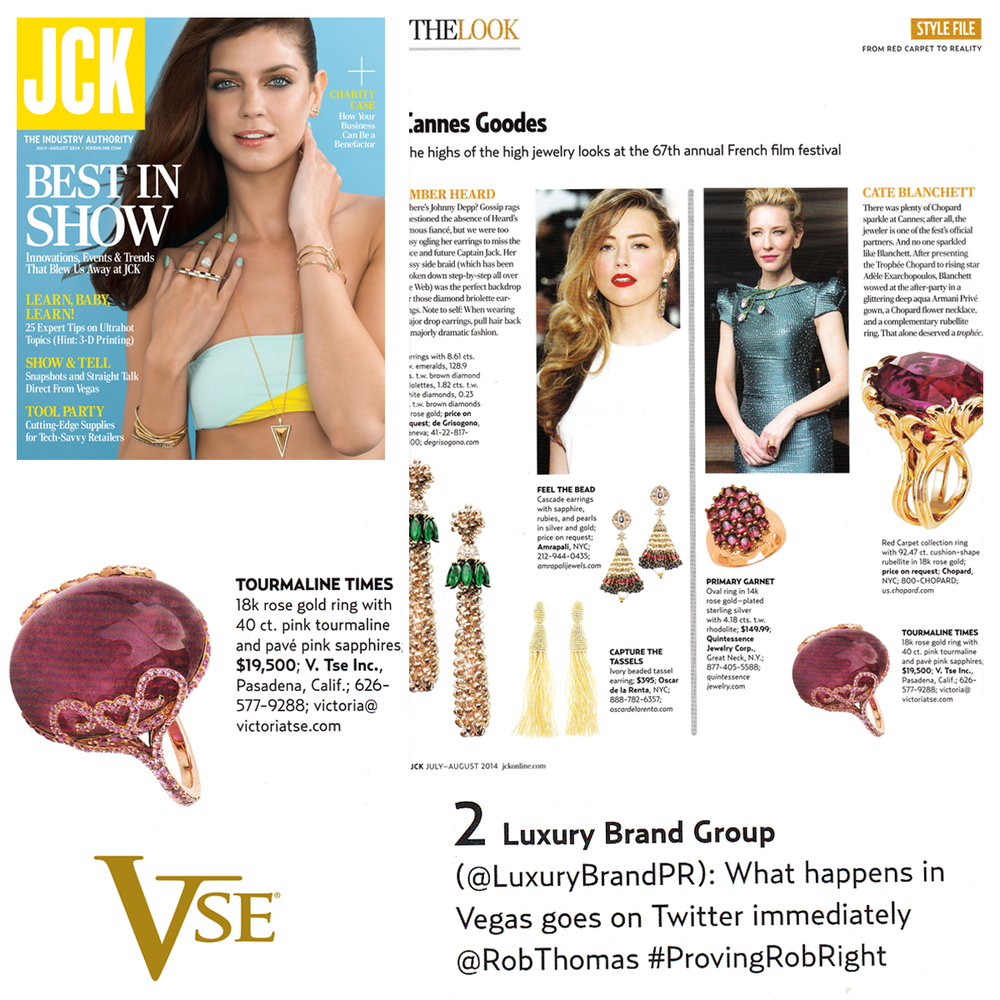 Spotted: Check out this stunning Rose Gold V.Tse ring and LBG's tweet featured within the July/August 2014 issue of JCK Magazine!