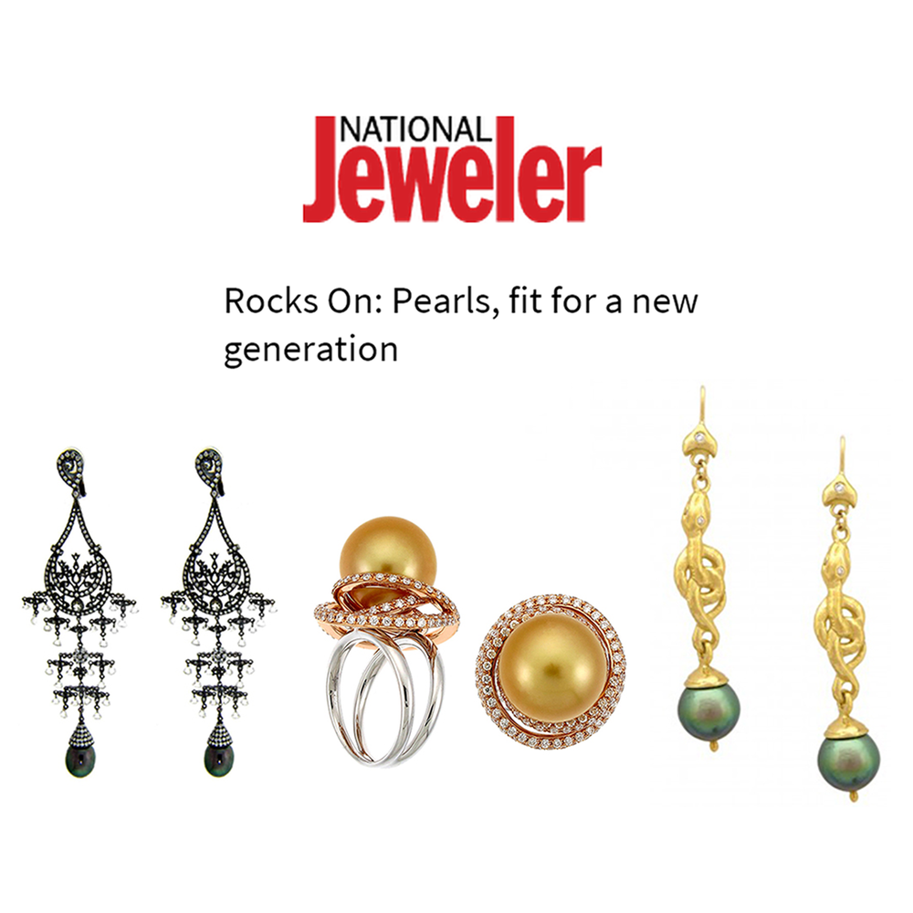 Pearls are the new jewelry trend! Check out these gorgeous pieces by Michael John Jewelry, Supreme Jewelry and Daniel Gibbings featured on National Jeweler's pearl trend article.