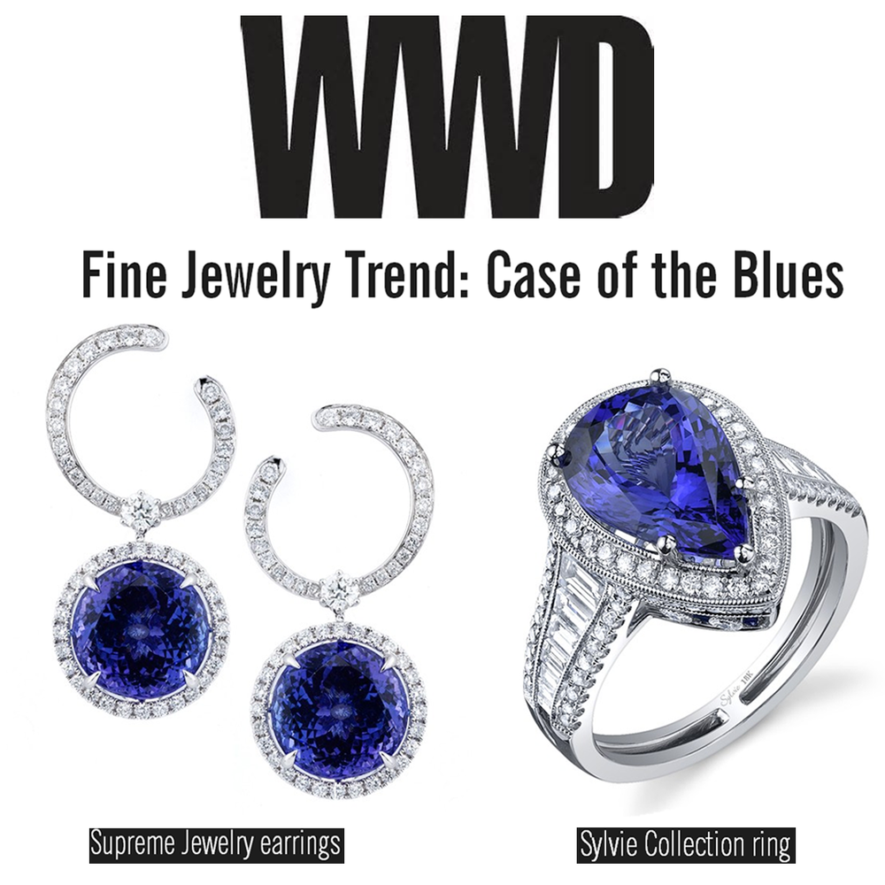"Supreme Jewelry and Sylvie Collection were featured on WWD in another jewelry trend article: ""Case of the Blues""."