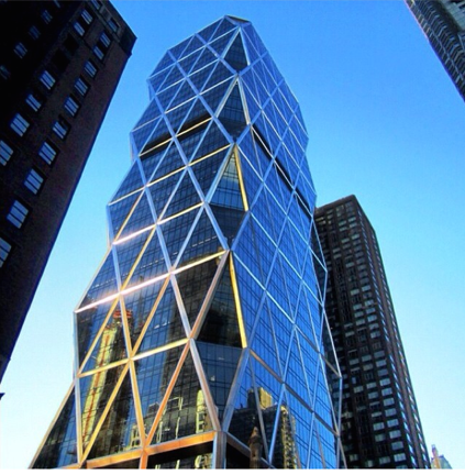 A spectacular snapshot of the Hearst building in NYC.