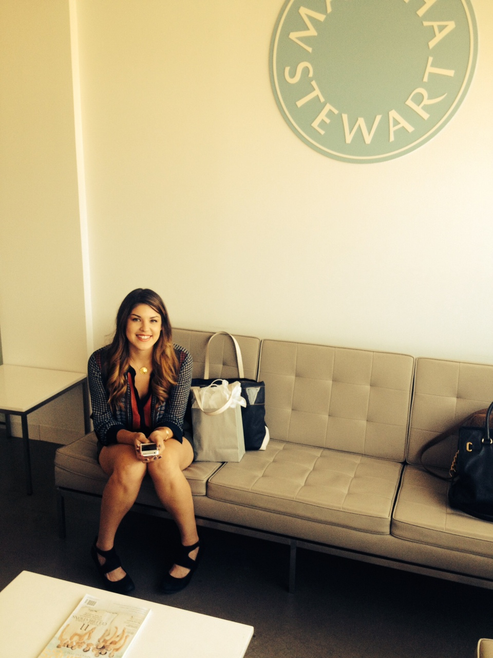 Prepping for the meeting with Colleen Banks, assistant style editor of Martha Stewart Weddings.