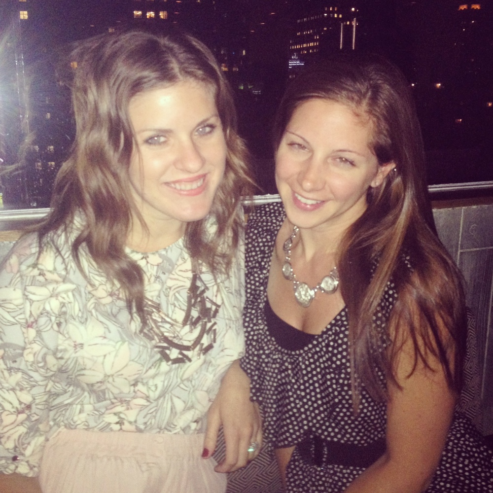 Catching up with Hannah Connorton, senior editor of National Jeweler, and enjoying the skyline and some cocktails.