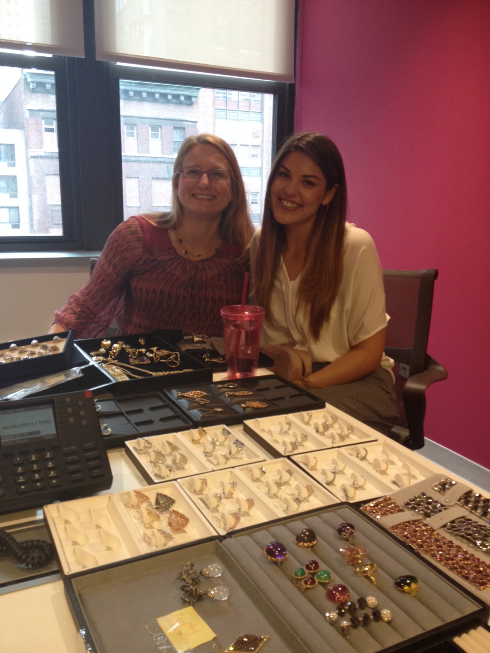 Meeting with Jennifer Heebner, senior editor of JCK, to display LBG's clients stunning jewelry.