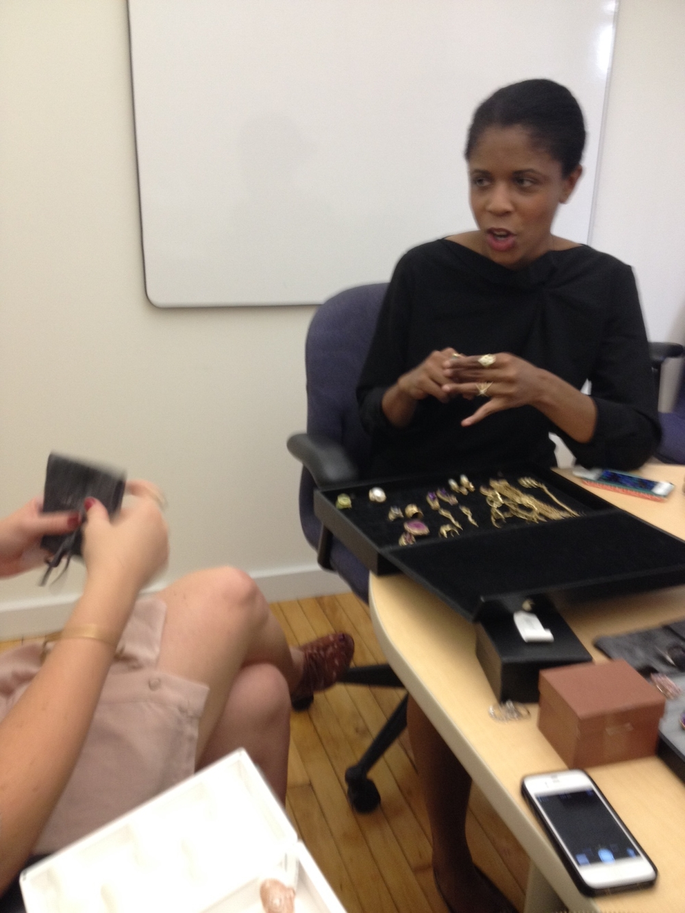 The glamourous, Tanya Dukes, senior jewelry editor of InStore and InDesign, discussing her favorite jewelry designs.
