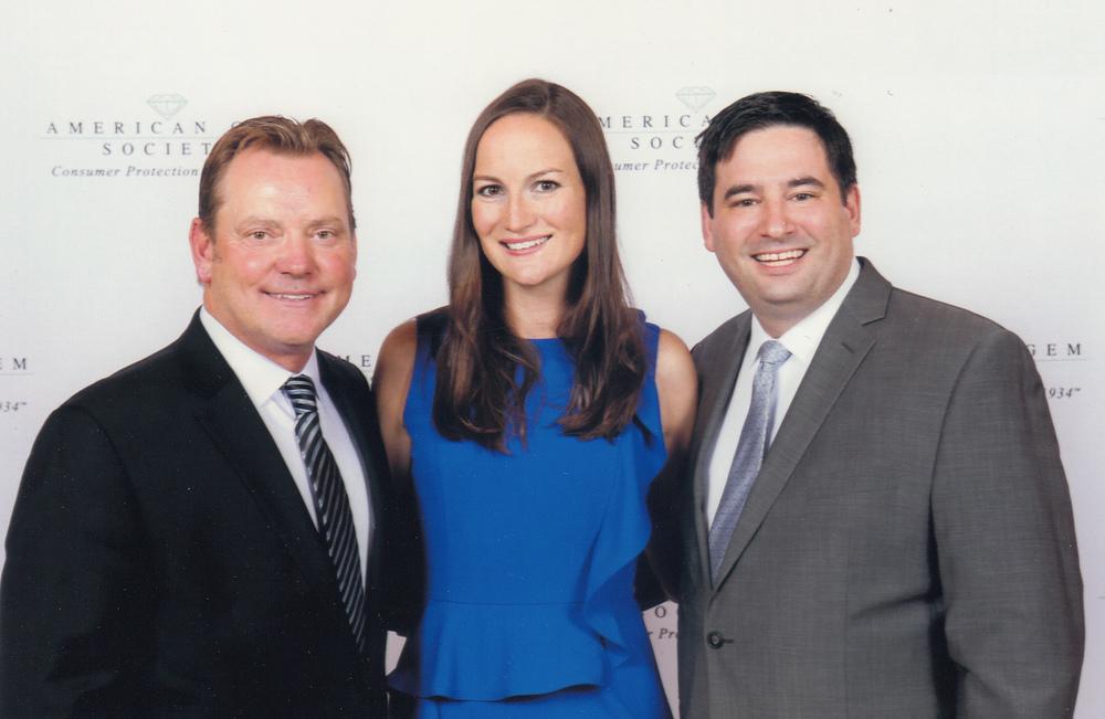 Frank Proctor, Amanda Gizzi and Matthew Tratner of Jewelers of America.