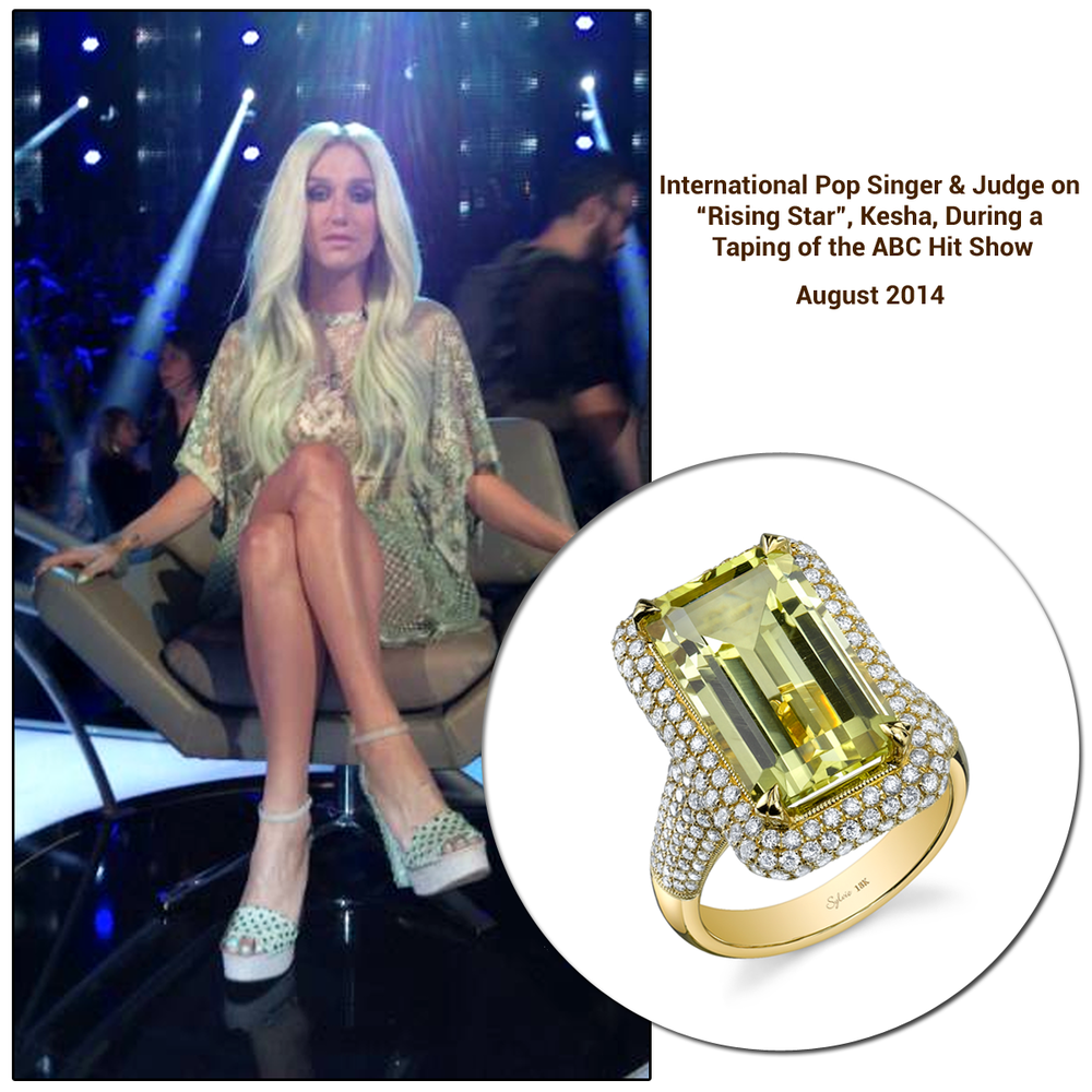 Kesha wearing a Sylvie Collection ring.
