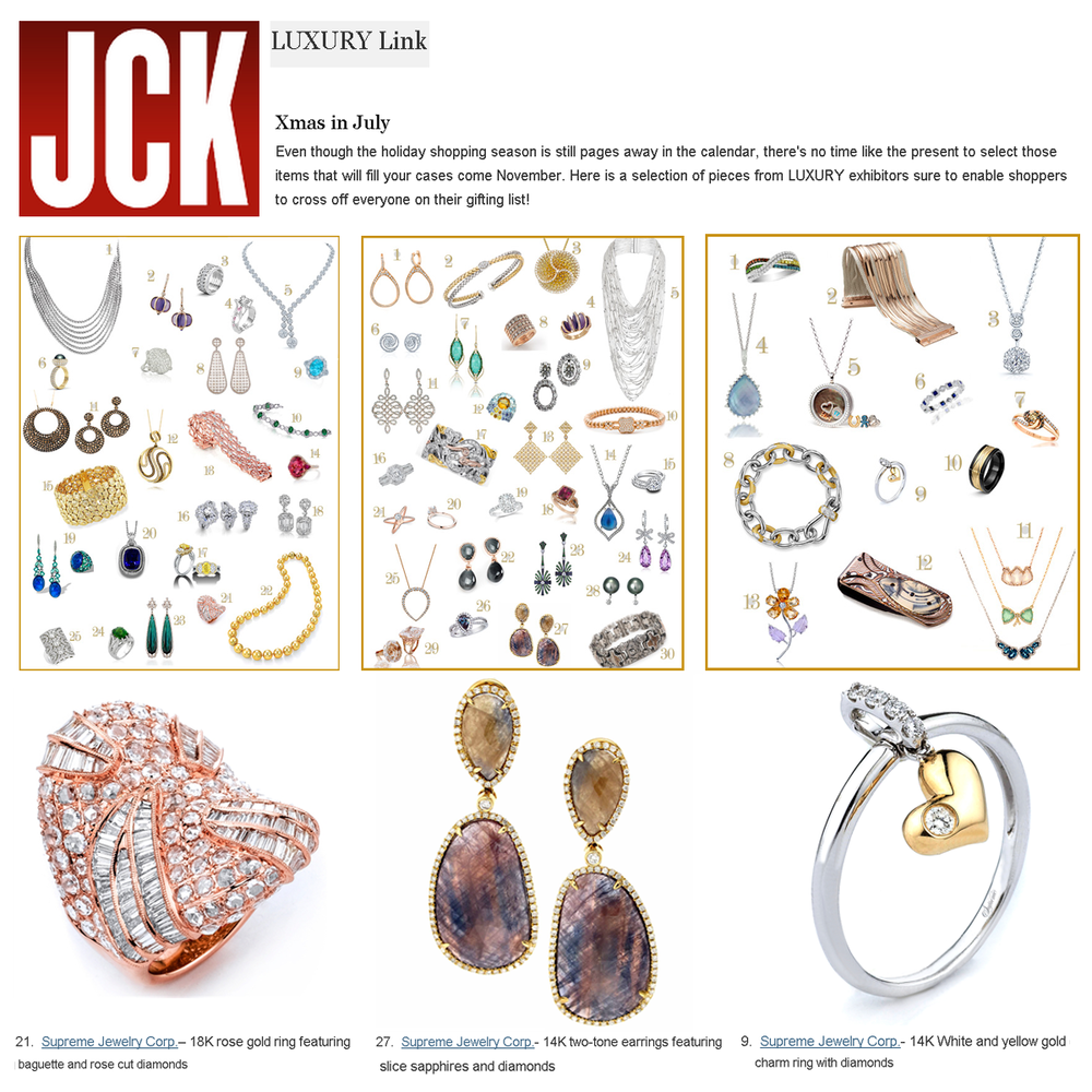 Start your holiday shopping early with these stunning Supreme Jewelry and Sylvie Collection (below) jewels featured on JCK's LUXURY Link!