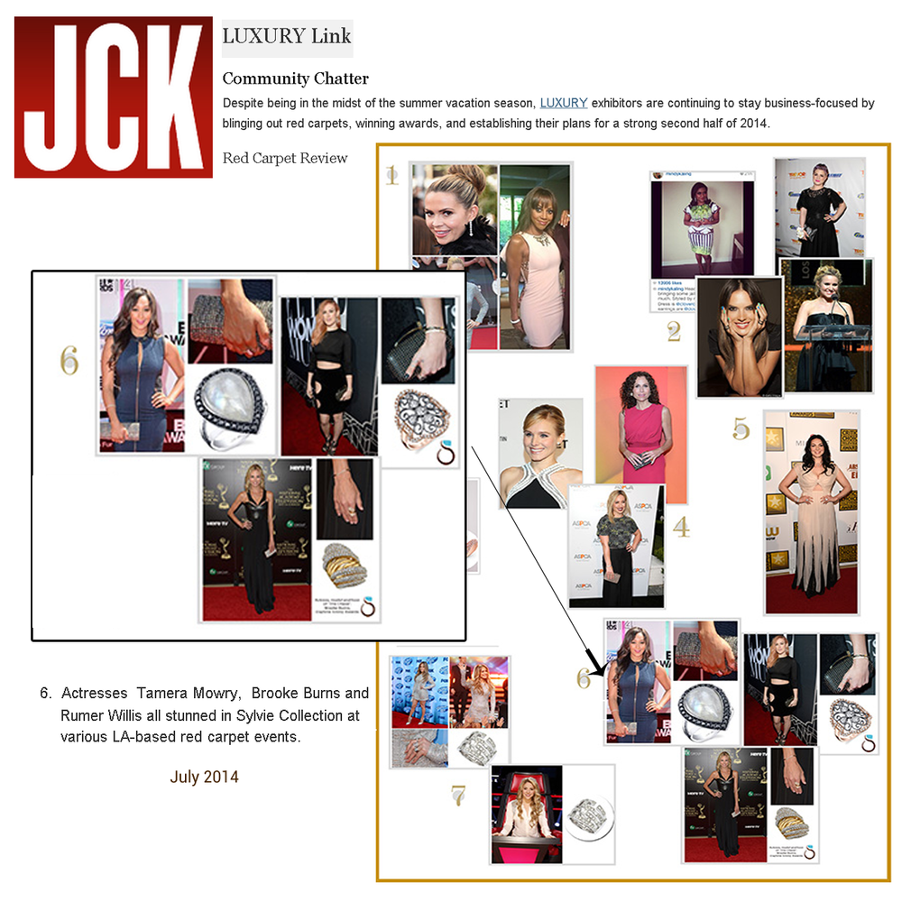 JCK's LUXURY Link also featured Sylvie Collection's recent celebrity press hits.