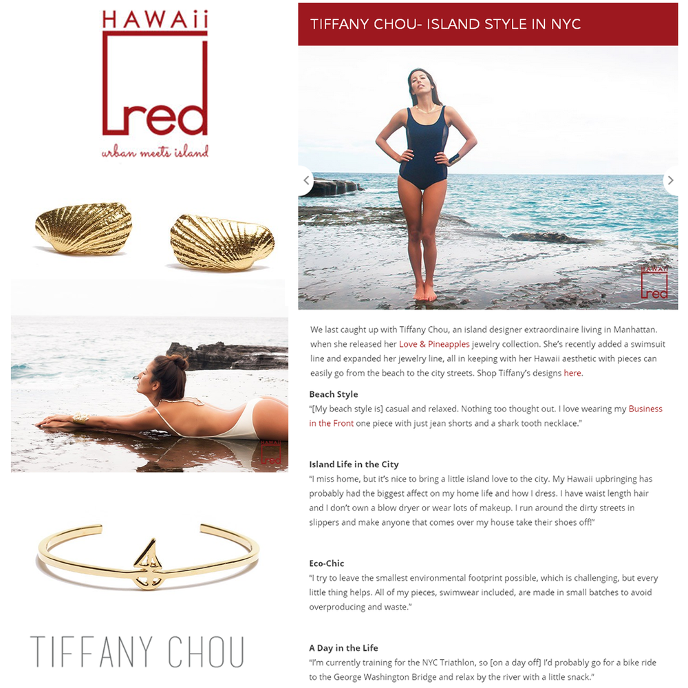 Island style in NYC! Hawaii Red Style gets personal with Tiffany Chou! Read the interview here.