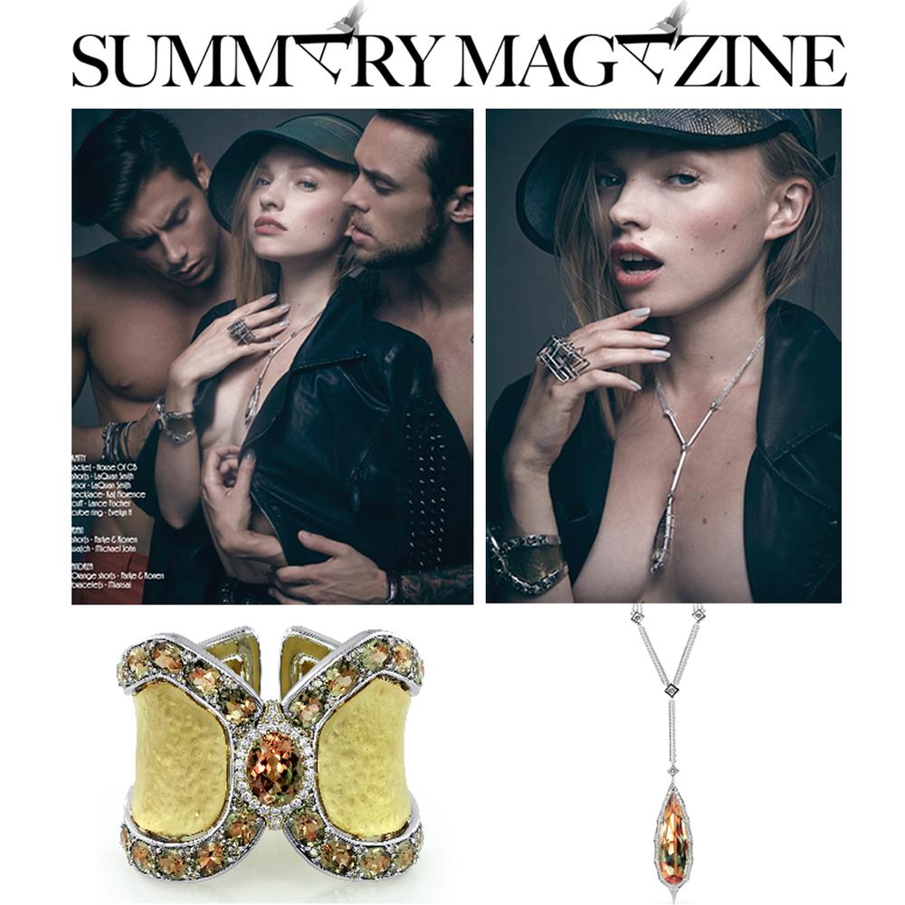 Lance Fischer's Zultanite® Selim's Cuff and Kat Florence's Zultanite® pendant