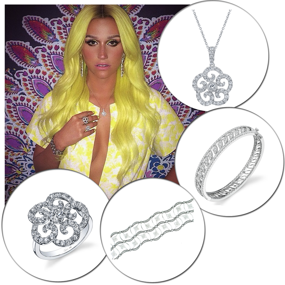 """Pop star, Kesha, rocked Sylvie Collection and Supreme Jewelry AGAIN while judging on this week's episode of """"Rising Star""""!"""