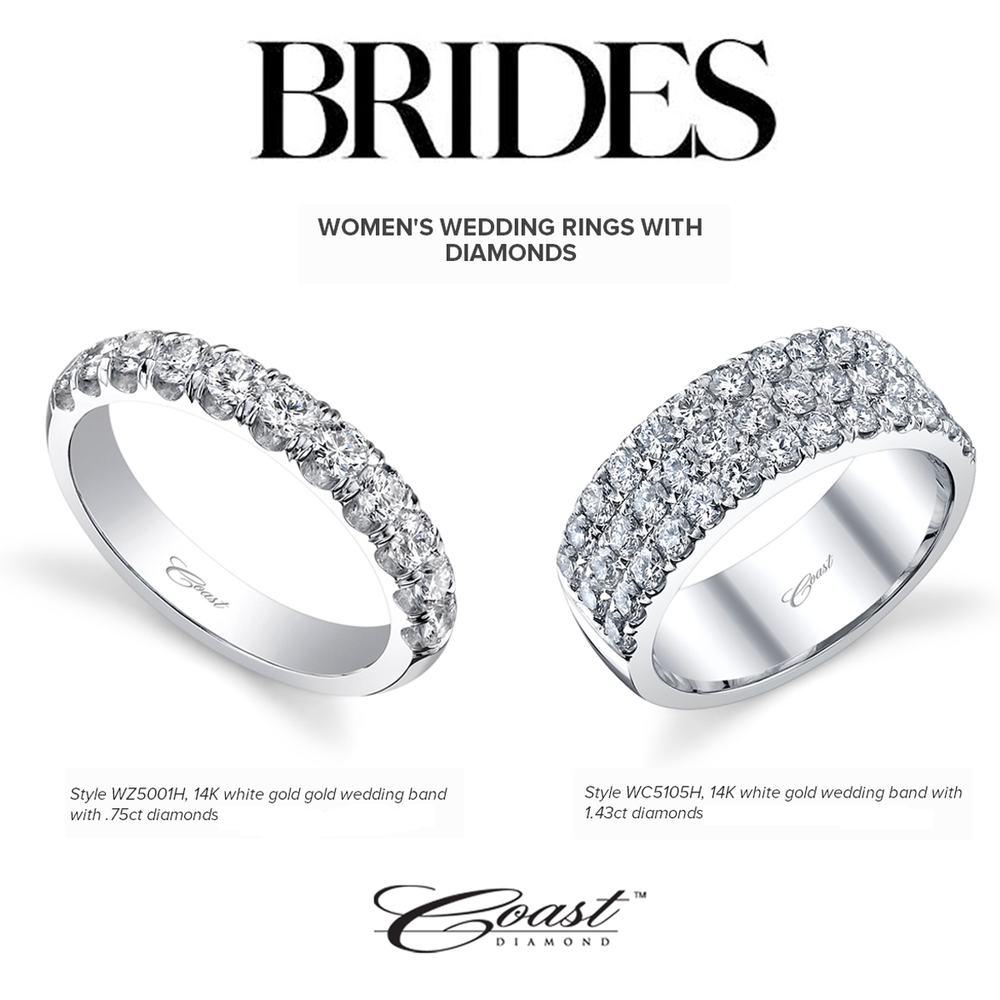 Brides-to-be! Check out these beautiful Coast Diamond wedding bands featured on BRIDES.com!