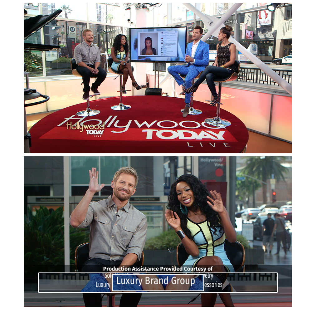 Have you tuned in to Hollywood Today Live?! The host, Porscha, looked fab this week in jewels provided by LBG!