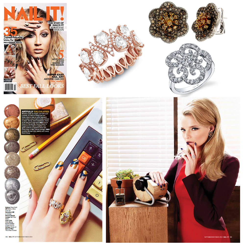Which nail color will you be trying this fall? Check out Michael John Jewelry, Supreme Jewelry and Sylvie Collection featured in the fall issue of Nail It Magazine!