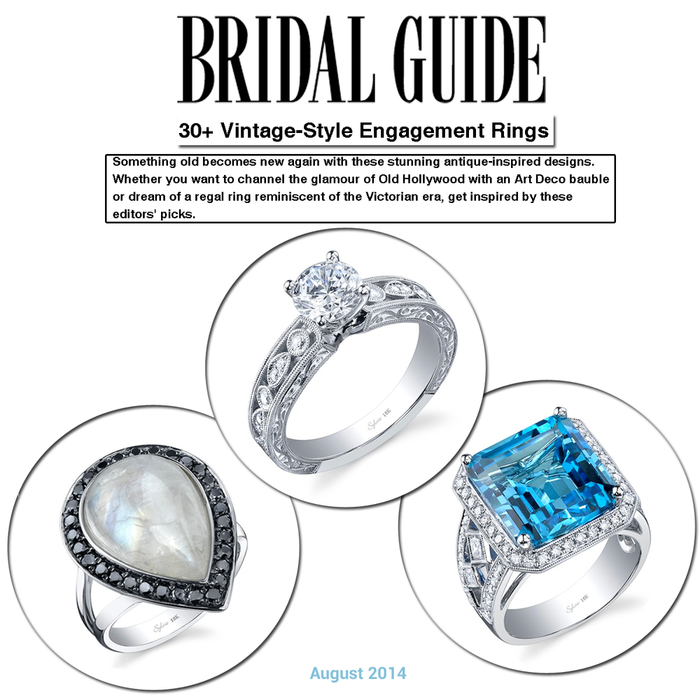 Which one of Sylvie Collection's vintage-style engagement rings is your favorite?! Thanks Bridal Guide for featuring!