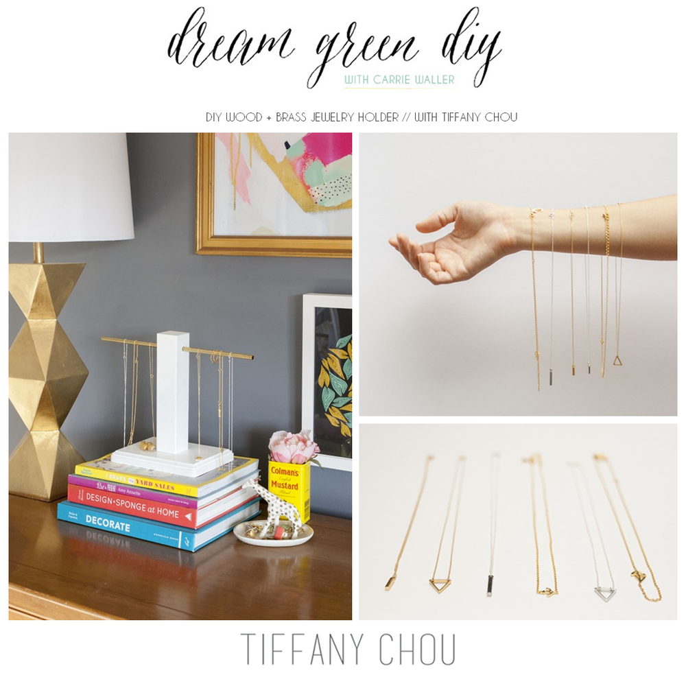"GIVEAWAY: Enter to win Tiffany Chou's Bermuda necklace from her ""Sail Away"" collection as featured on Dream Green DIY's ""DIY Necklace Holder"" post. Enter here!"