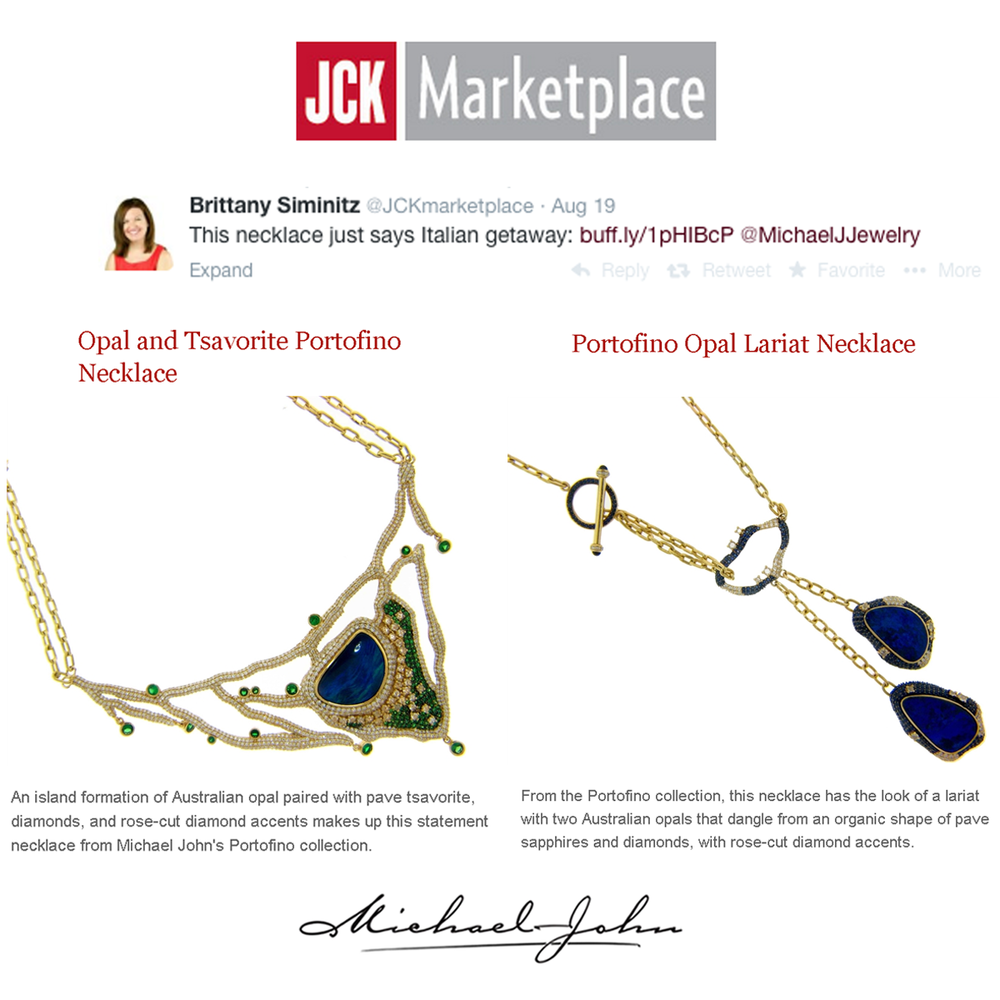 These Michael John Jewelry necklaces from the Portofino Collection are the must-have accessories for your next trip to the Italian Riviera! Thanks JCK Marketplace for featuring these stunning pieces!