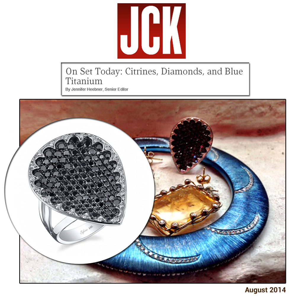 On the JCK set - here's a sneak peek at JCK Magazine's October issue featuring Sylvie Collection's gorgeous ring!
