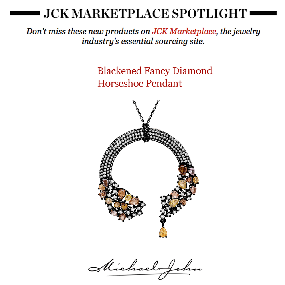 This week's spotlight was on Michael John Jewelry's lovely horseshoe pendant featured on JCK Marketplace.