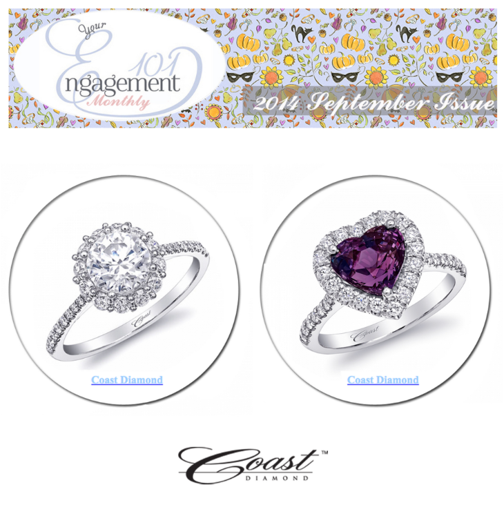 Which Coast Diamond engagement ring your favorite?! Thanks Engagement 101 for featuring!