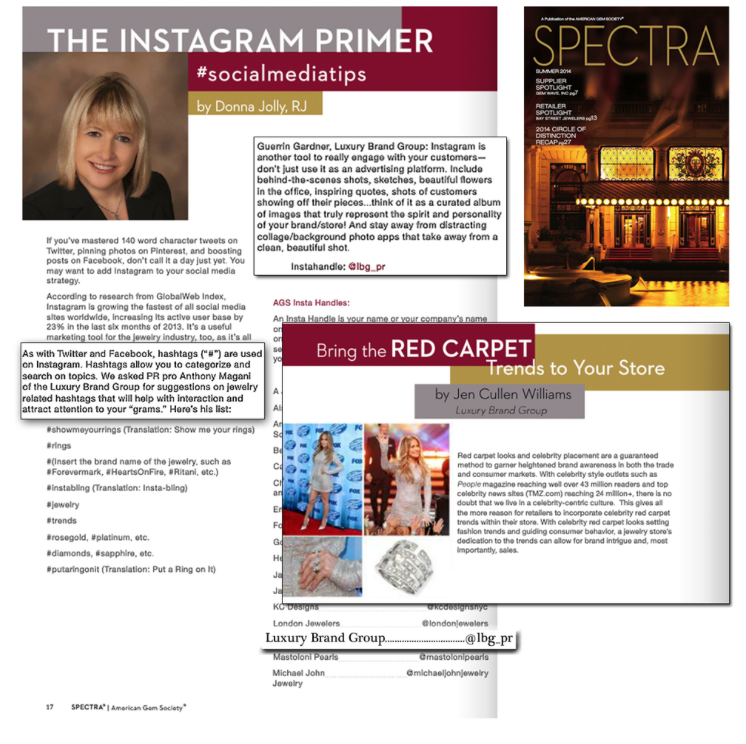 Instagram is taking over the Social Media world! Read what the LBG team has to say about it in AGTA Gems Spectra Magazine!