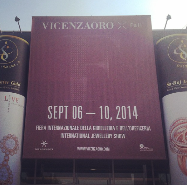 The entrance to VICENZAORO Fall 2014.