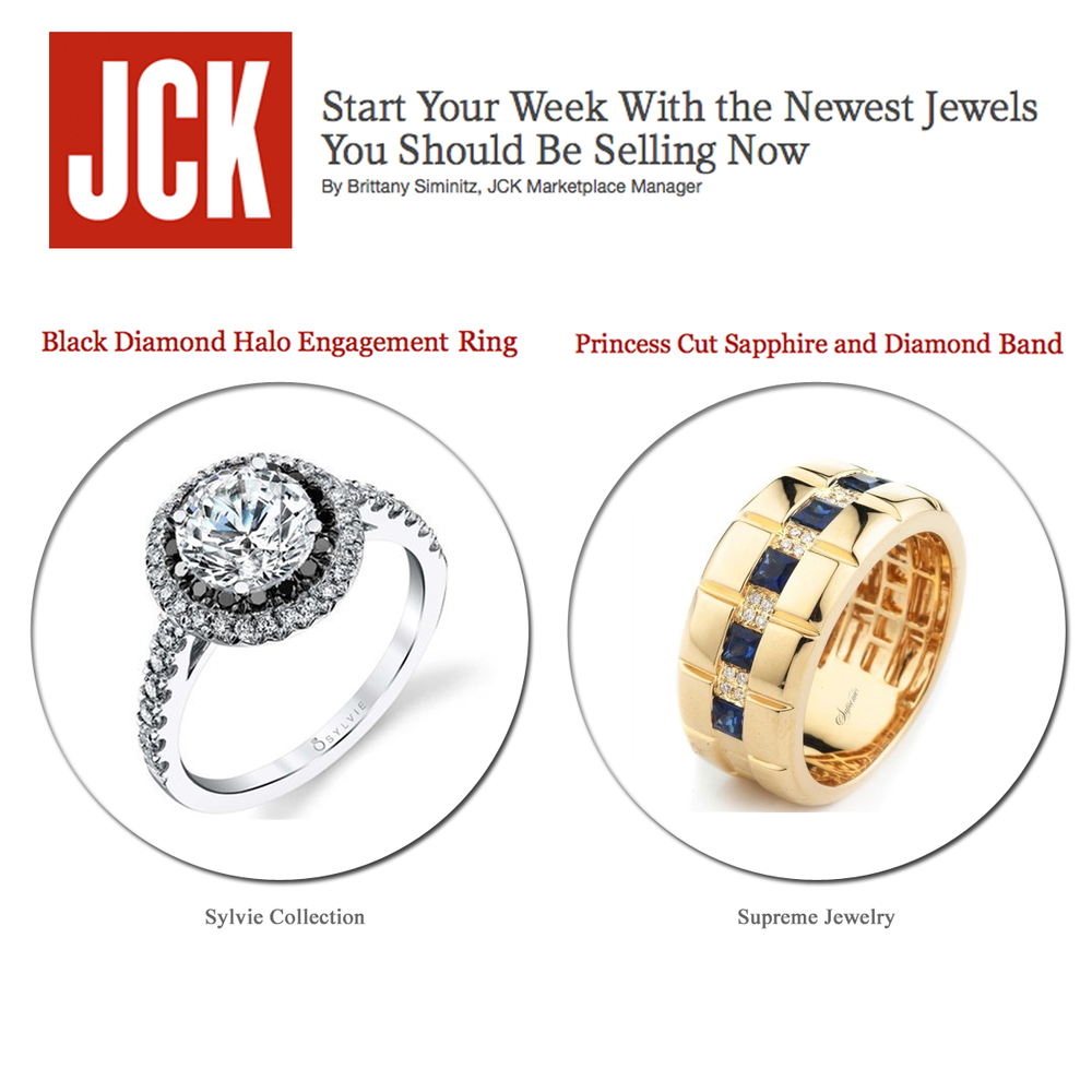 Celebrate the weekend in style with these new jewels by Sylvie Collection and Supreme Jewelry. Thanks JCK for featuring!