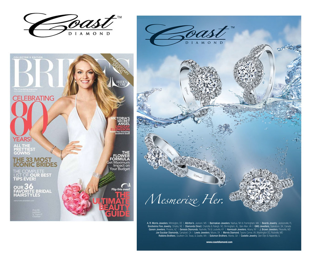 Be sure to pick up the Oct/Nov issue of BRIDES and check out Coast Diamond's lovely ad!