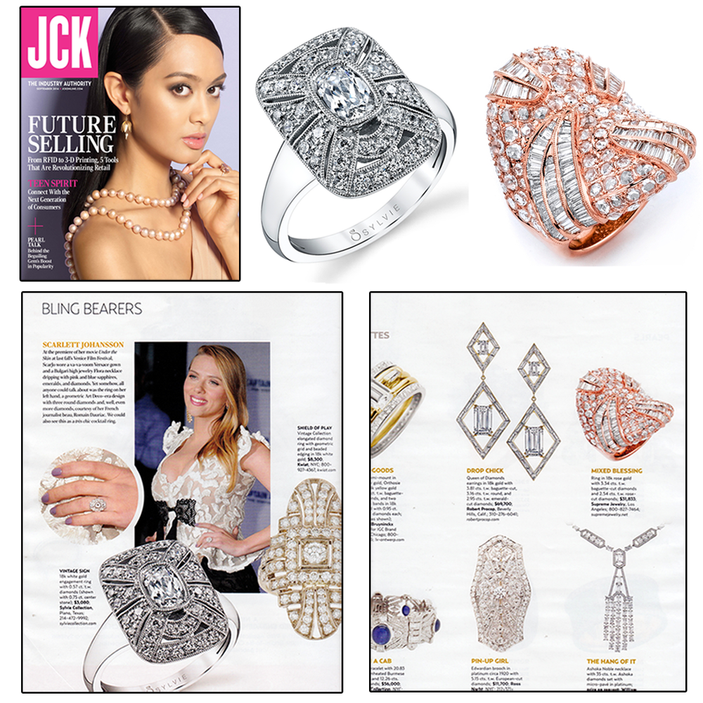Check out Sylvie Collection and Supreme Jewelry's rings featured in the September 2014 supplement issue of JCK Magazine! LBG's CEO, Frank Proctor, and Industry Consultant, Nancy Robey were also spotted in this issue. (See Below)