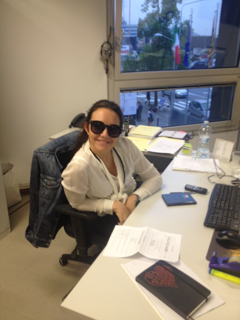 VO Buyers Coordinator, Beatrice Folco, at her desk.