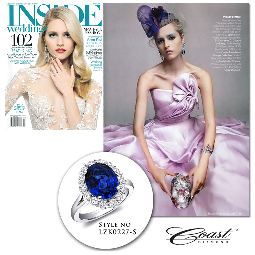 Check out this dreamy editorial in the Fall issue of Inside Weddings featuring a stunning Coast Diamond Sapphire ring!