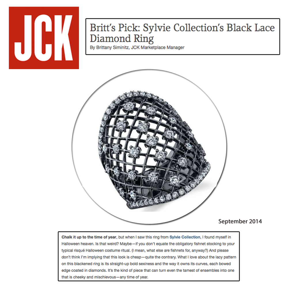 Ring of the day: This lovely Black Lace Diamond ring by Sylvie Collection - as seen on JCK Magazine!