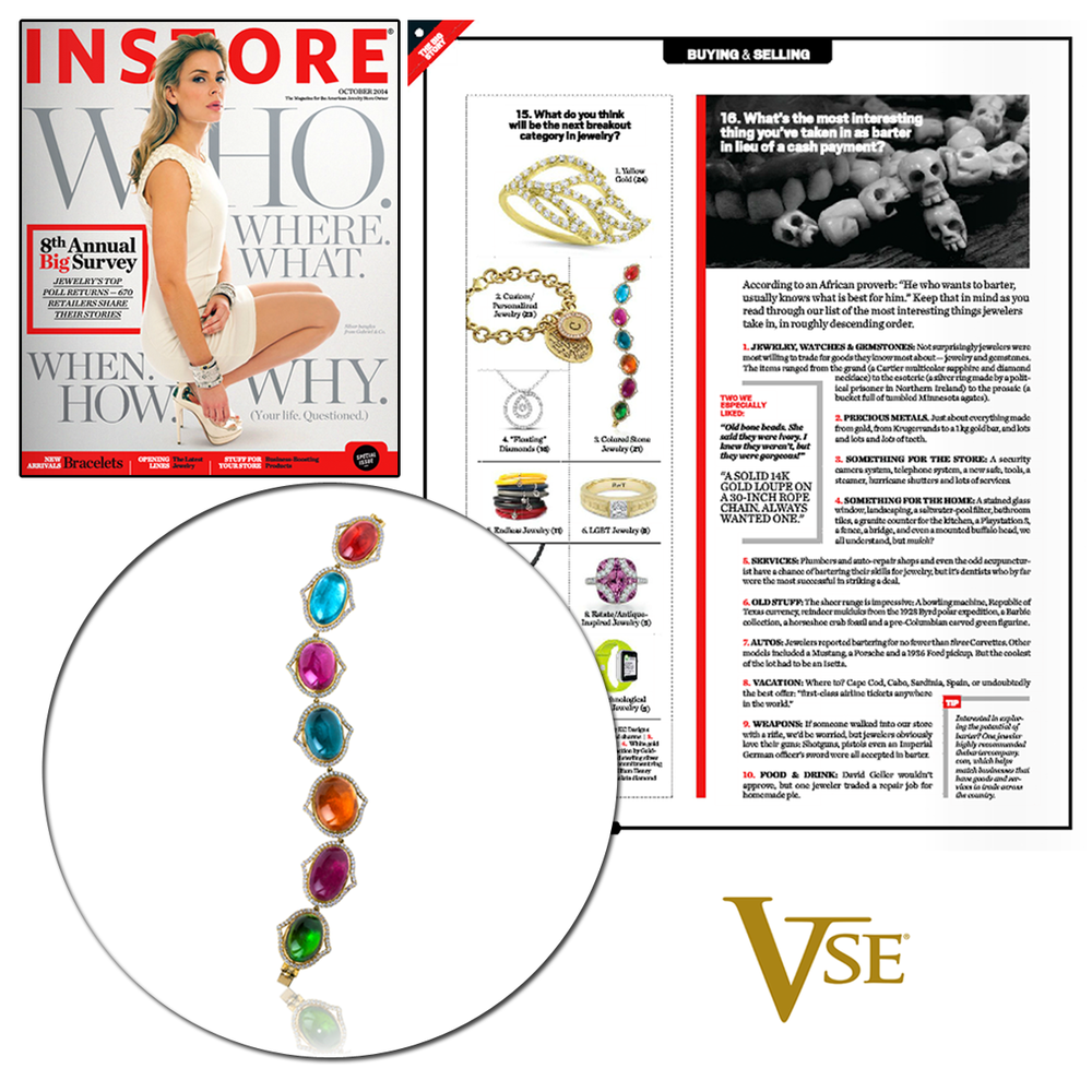 Color, Color, Color! We're currently coveting this V.Tse bracelet in the October issue of INSTORE Magazine!