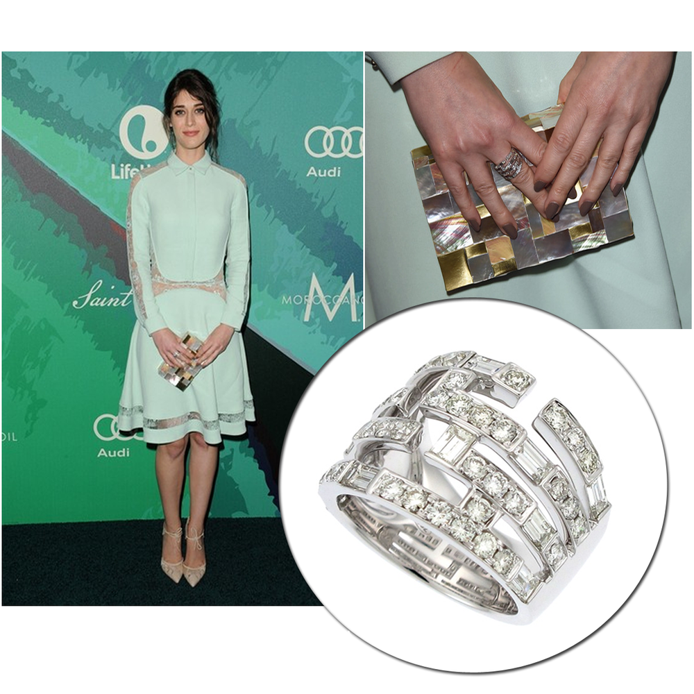 """Spotted talented actress, Lizzy Caplan of """"Masters of Sex"""" wearing a Supreme JewelryDiamond ring and a beautiful mint dress at Variety's 2014 """"Power of Women"""" event!"""